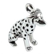 Dalmatian Dog Sitting  3D Sterling Silver Charms